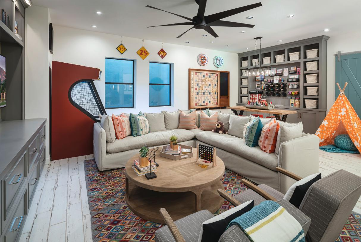Optional basements for secondary entertainment space