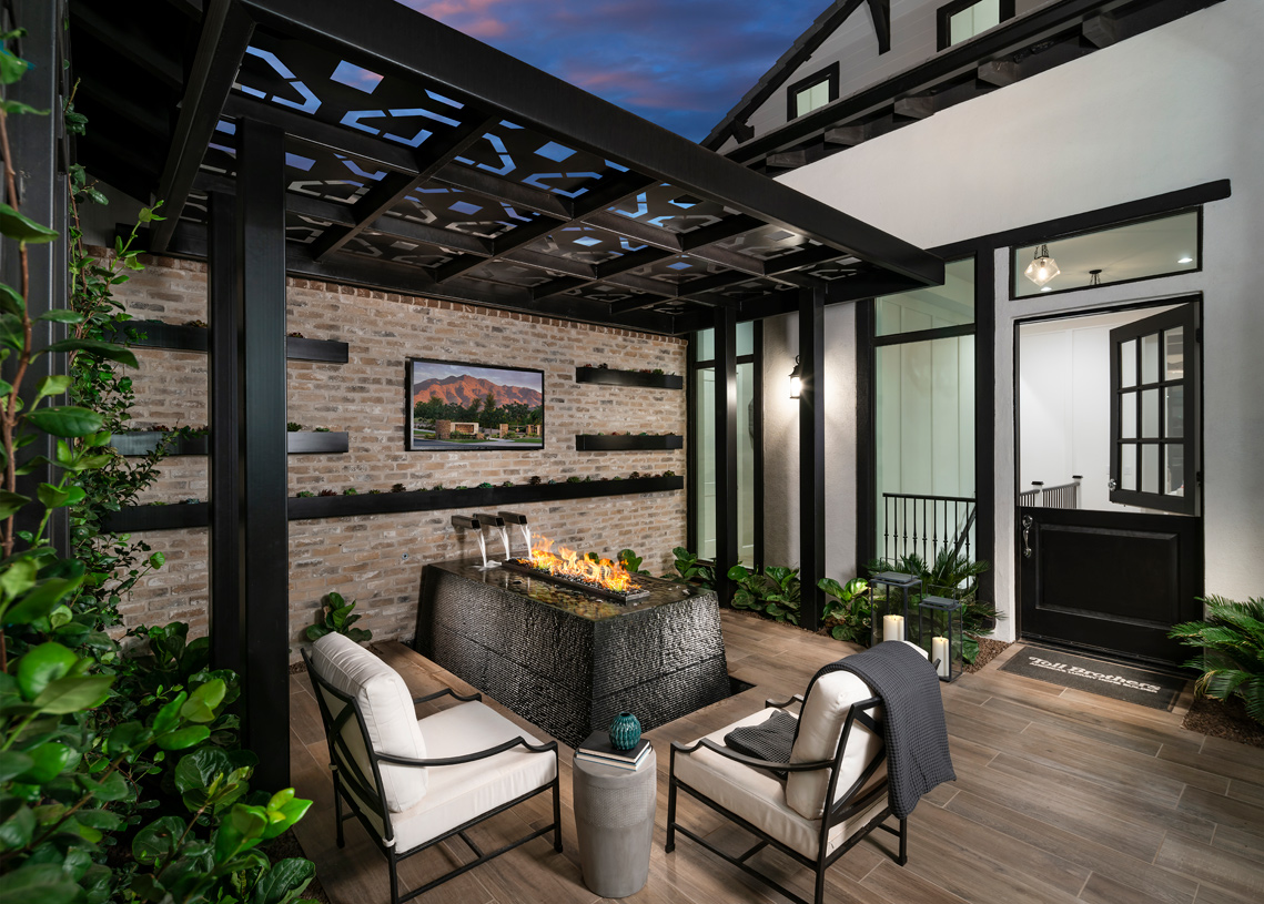 Private courtyards for front yard living and entertaining