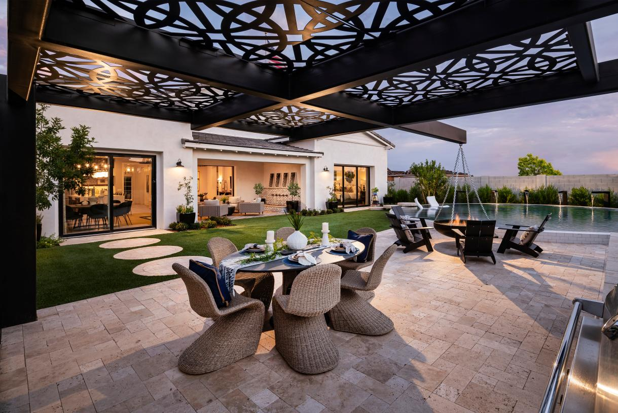 Outdoor seating areas for casual dining