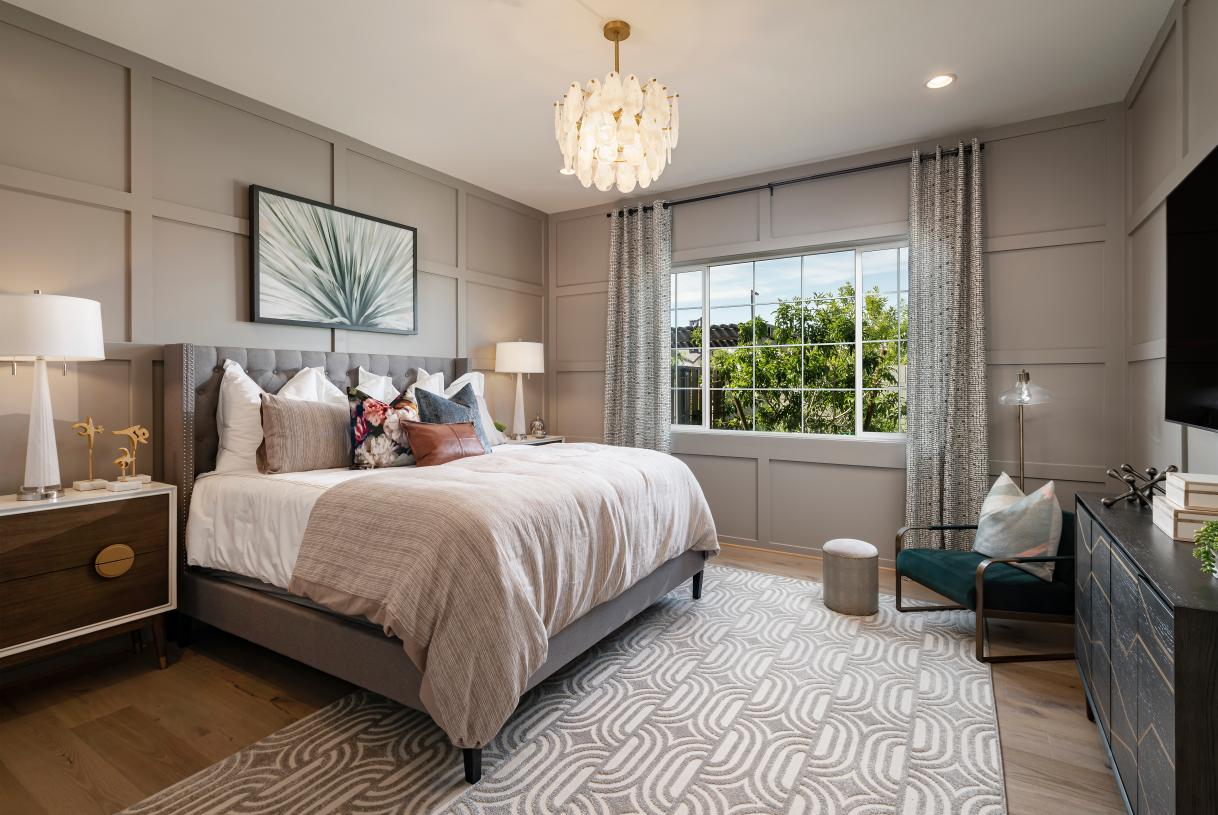 Spacious secondary bedroom suites with casual seating area