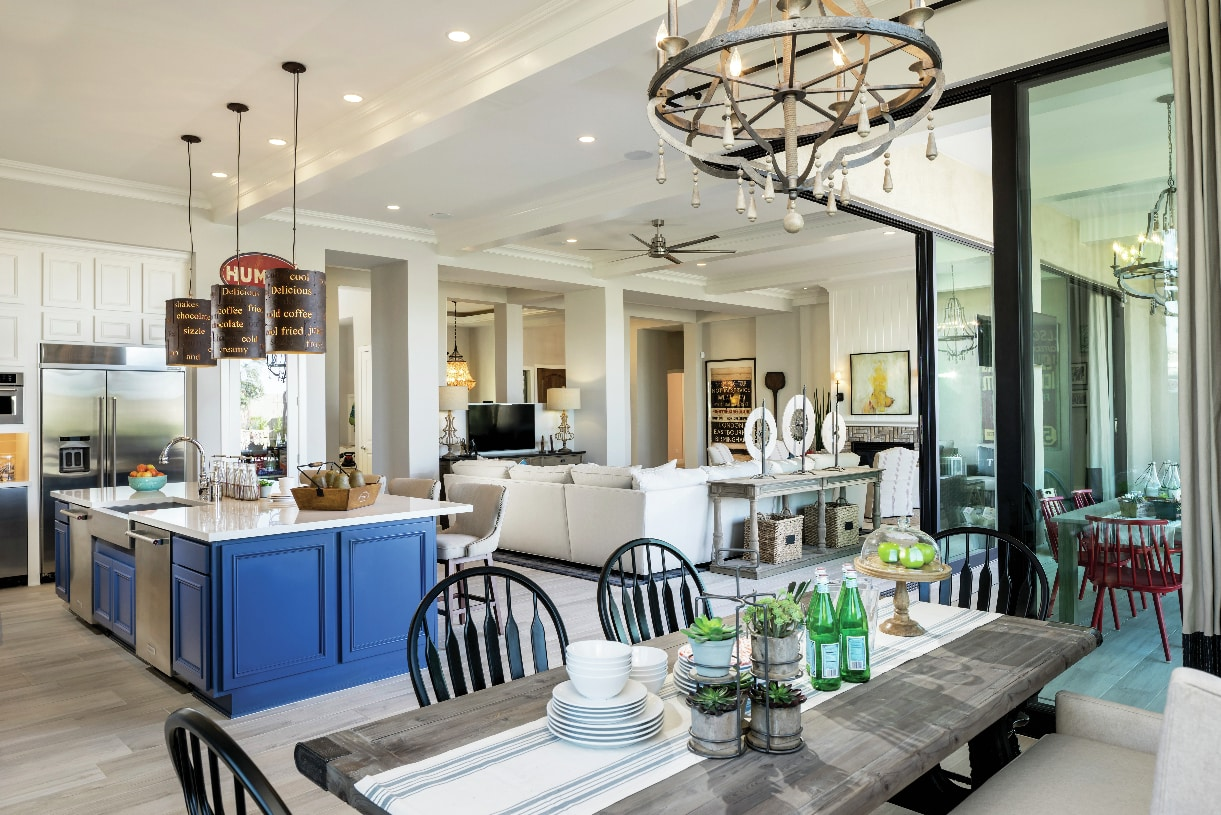 Open floor plans perfect for entertaining