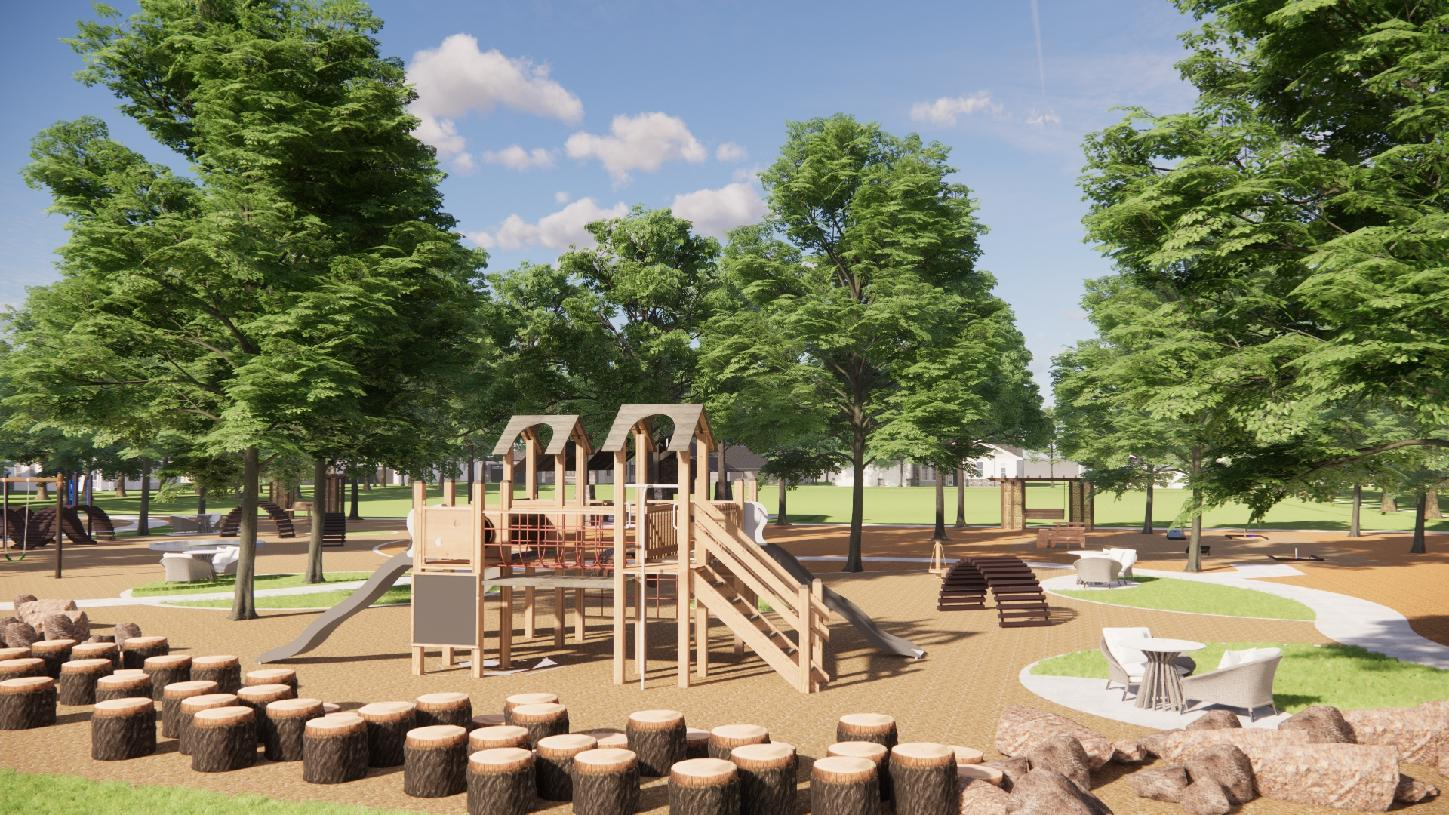 Bridle Ranch future playground and walking paths