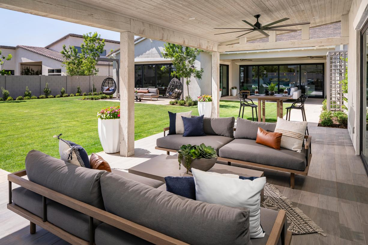 Covered patios for outdoor living and entertaining