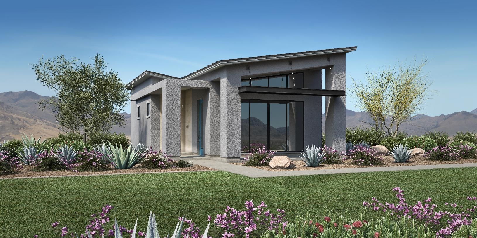 Optional detached guest casita available with Farmhouse, Desert Contemporary and Modern exteriors