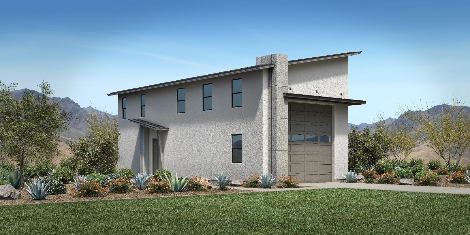 Optional super garages available with Farmhouse, Desert Contemporary and Modern exteriors