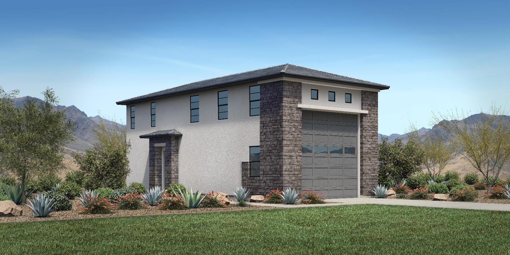 Optional super garages available with Farmhouse, Craftsman, Desert Contemporary and Modern exteriors