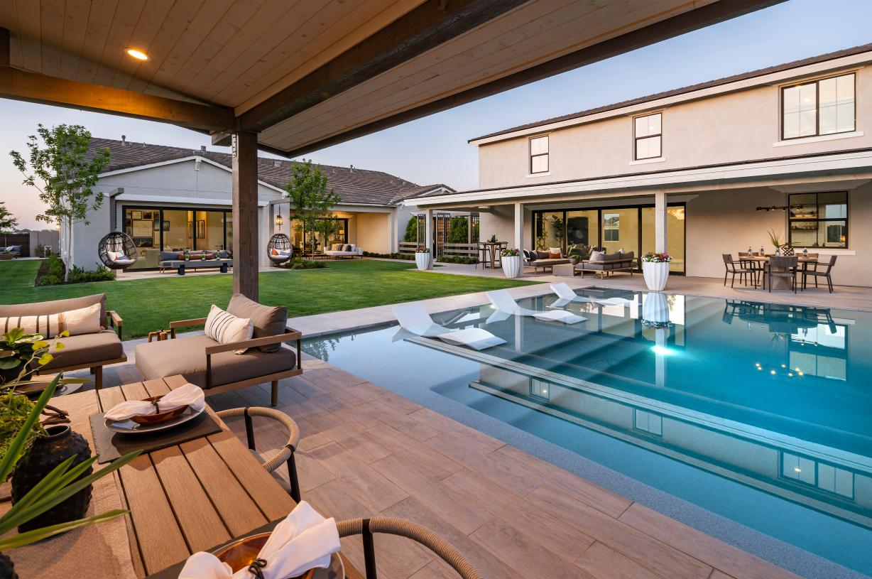 Large backyards ideal for entertaining and relaxation