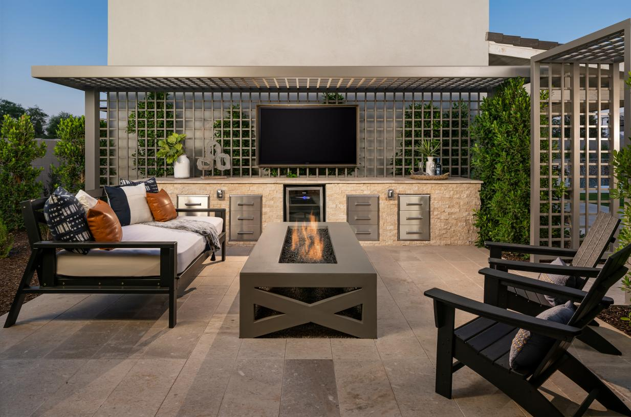 Private patio for outdoor relaxation located off the primary bedroom suite