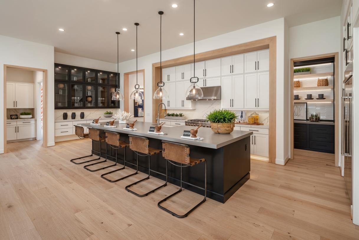 Stunning kitchen with huge center island and ample cabinet space