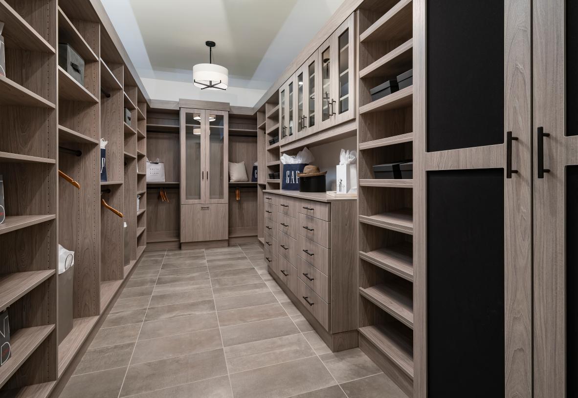 Gorgeous primary bedroom suite walk-in closet