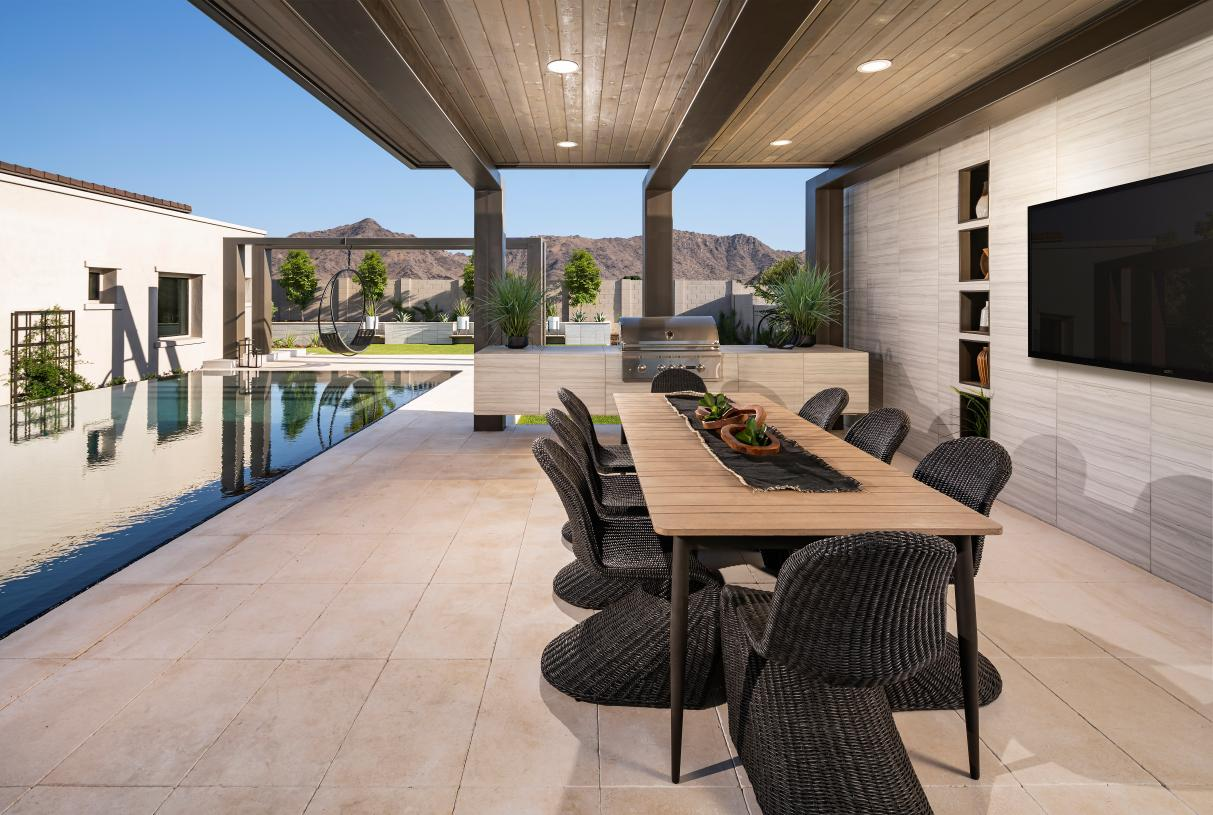 Spacious outdoor dining areas for entertaining