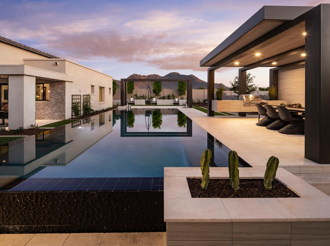 Luxurious backyards for outdoor living and entertaining