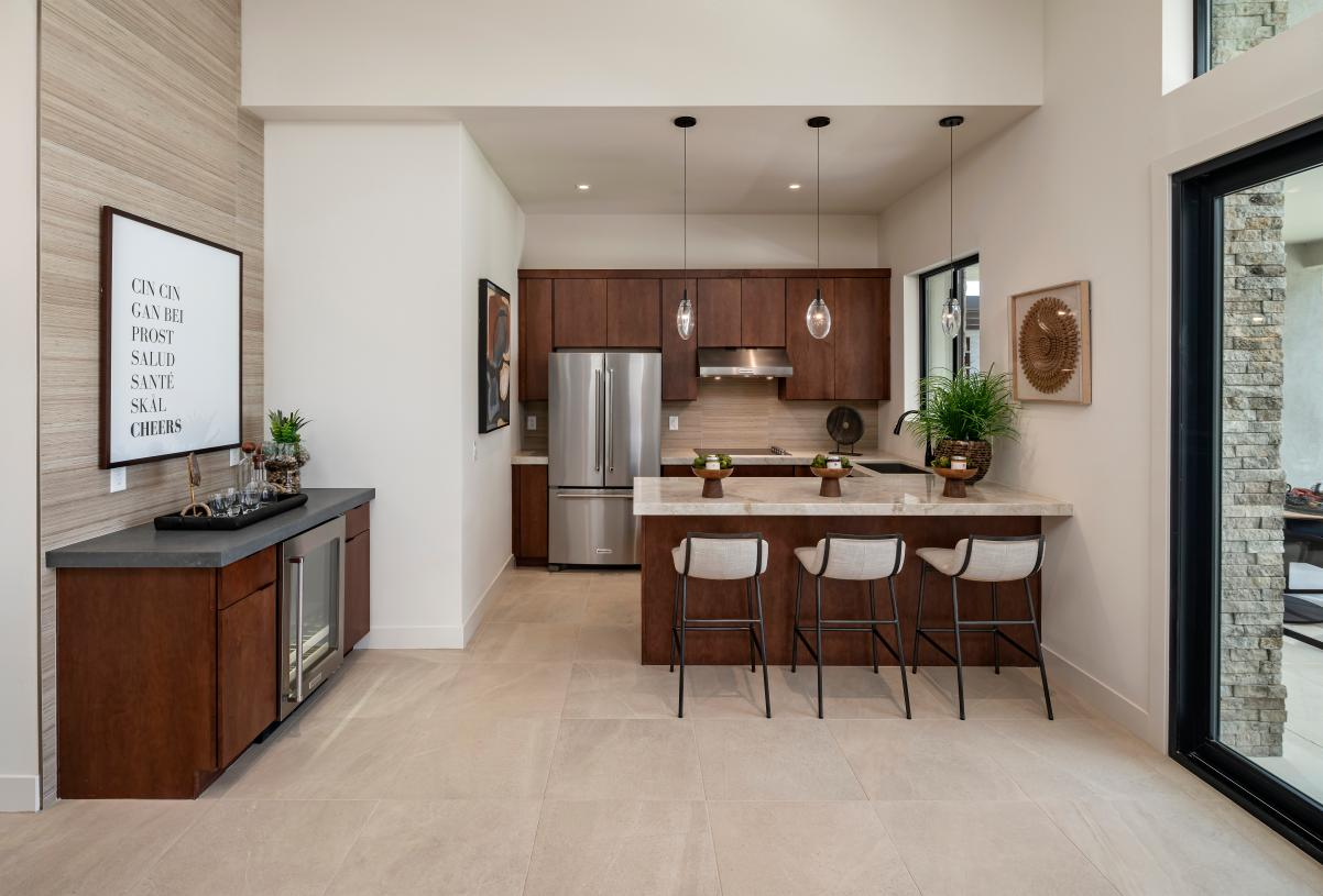 Guest casita with kitchenette and wet bar