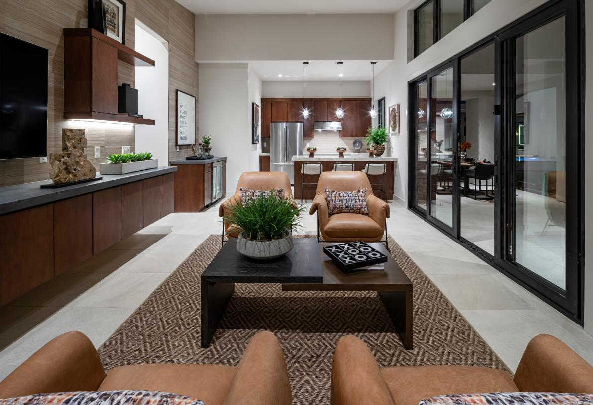 Optional guest casita with open concept floor plan and kitchenette