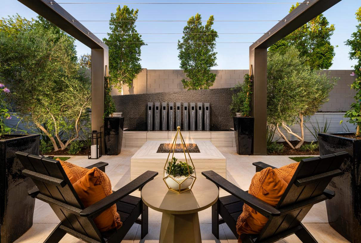 Guest casita private patio for outdoor living