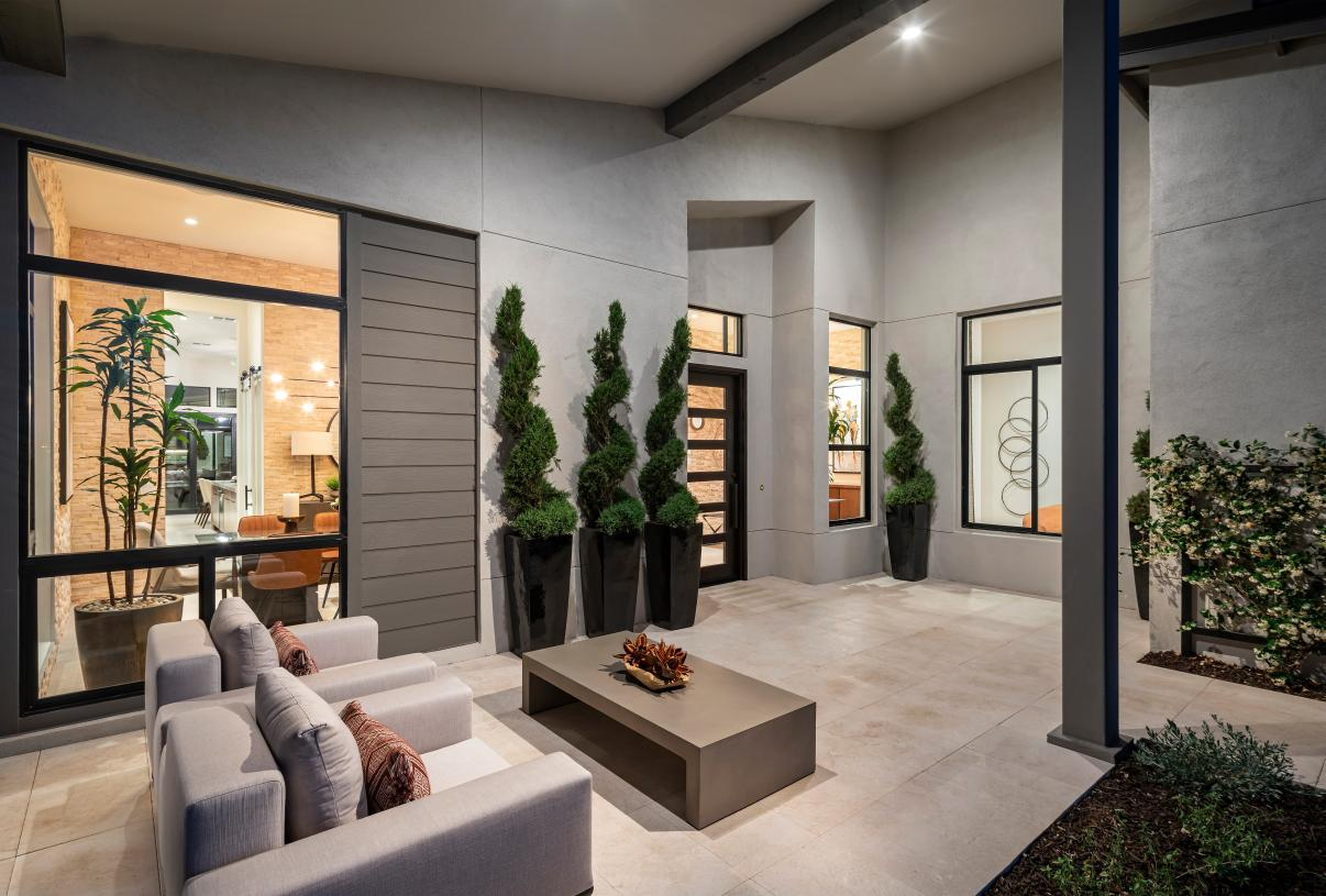 Front covered patios for outdoor living