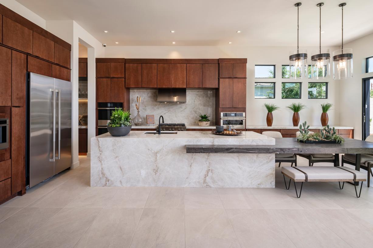 Stunning kitchens with ample countertop and cabinet space ideal for entertaining