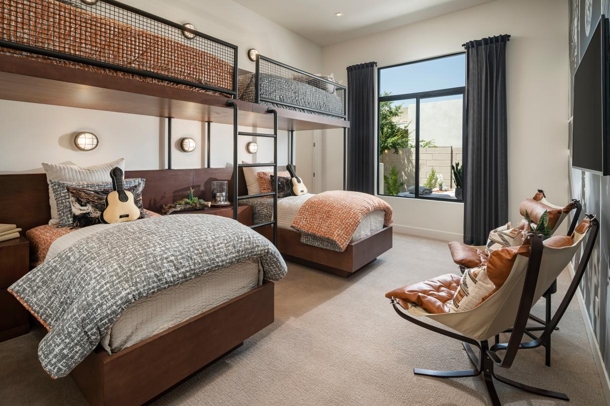 Spacious secondary bedroom suites with walk-in closets
