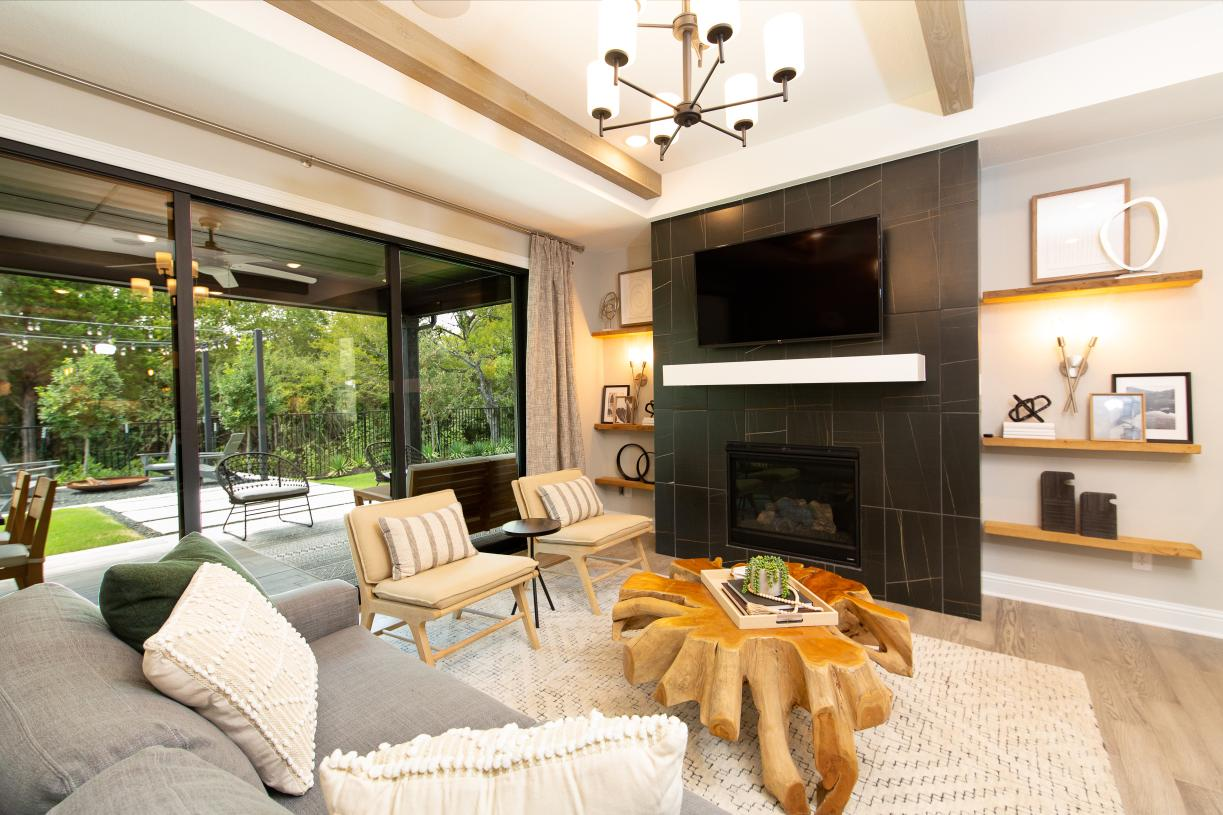 Desirable great room with optional fireplace