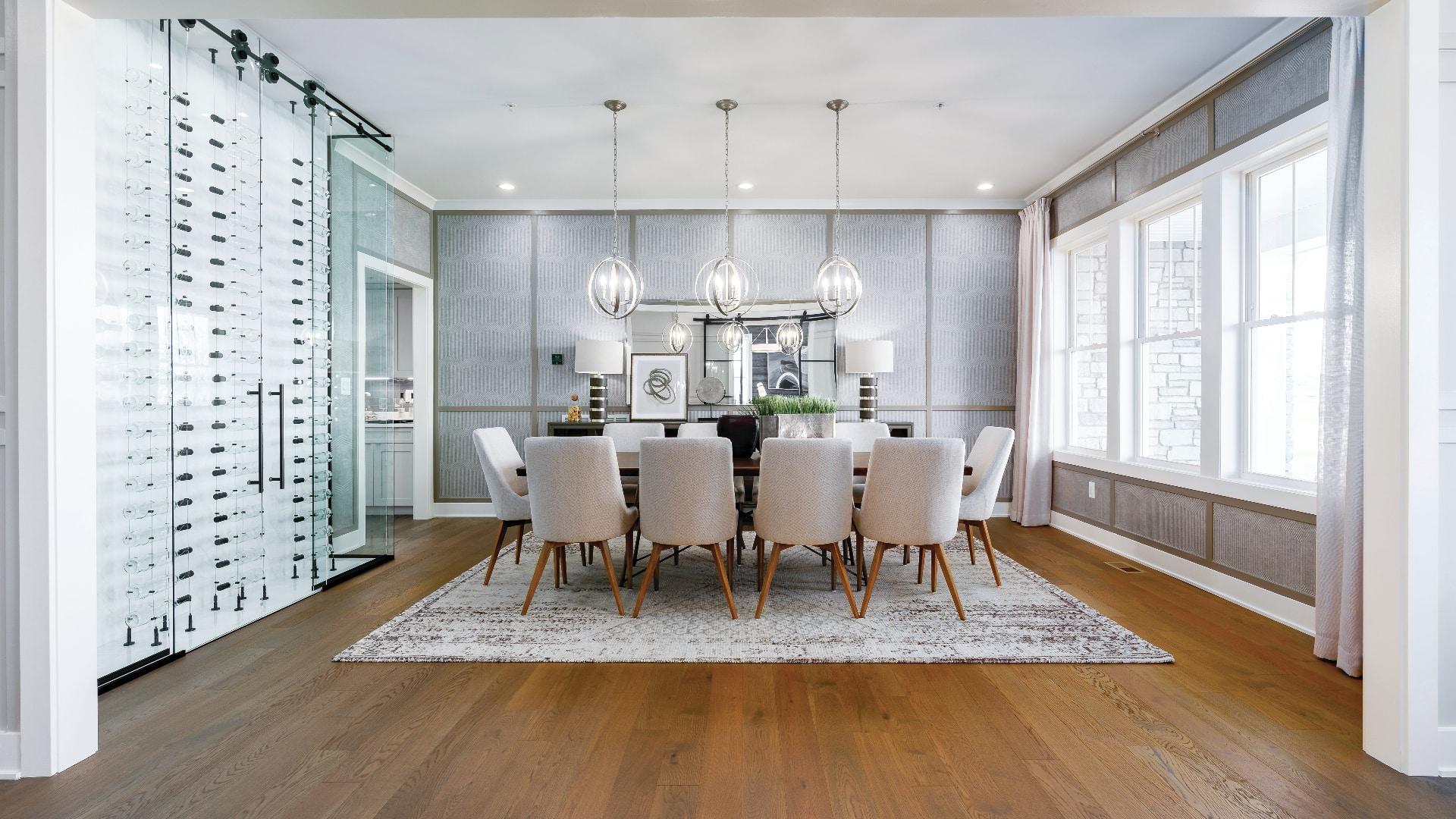 Elegant, formal dining rooms
