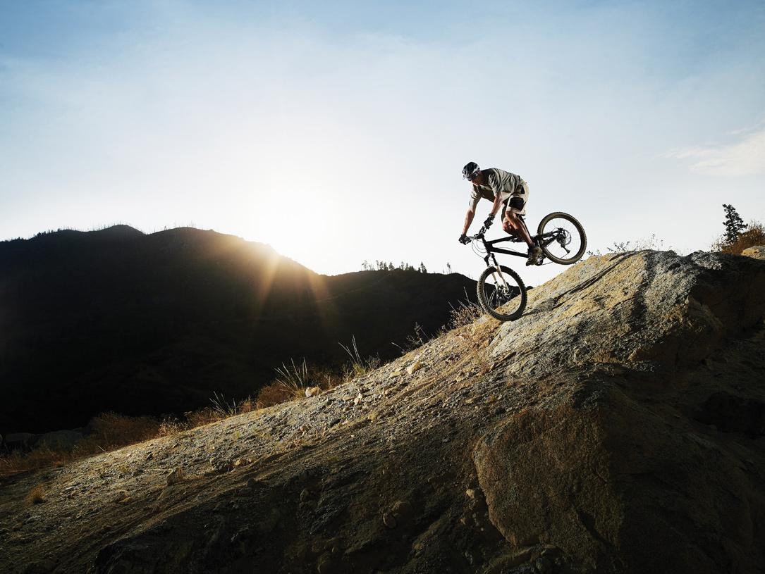 Enjoy mountain biking or a challenging hike