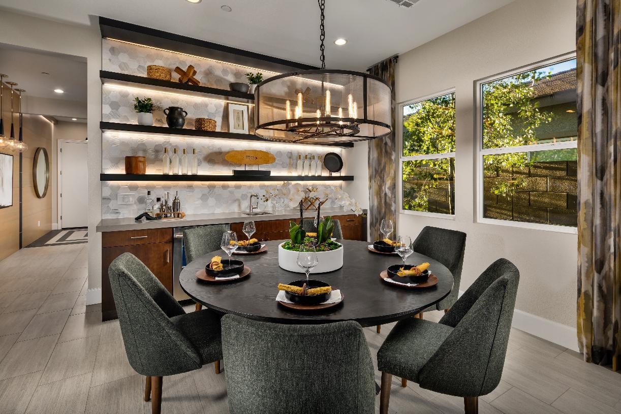 Cozy casual dining area