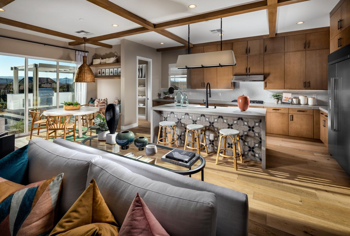 Well-designed kitchens with ample counter and cabinet space