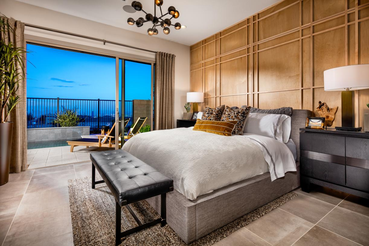 Primary bedroom suites with access to outdoor living