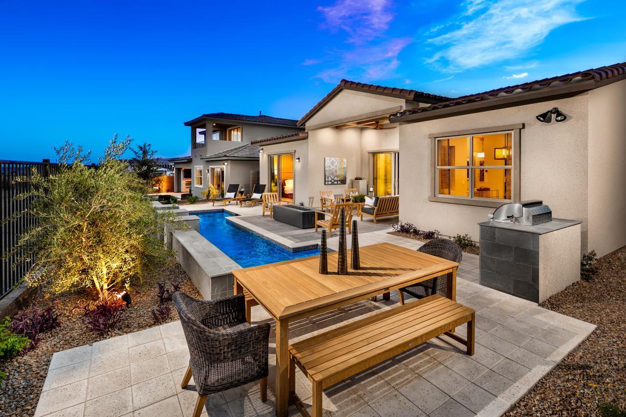 Resort-style backyard with pool