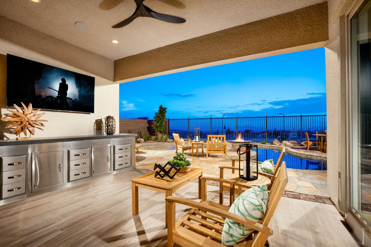 Covered patio for all-weather entertaining