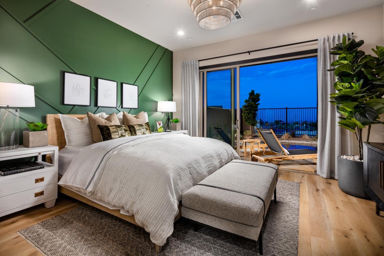 Magnificent first-floor primary bedroom suite