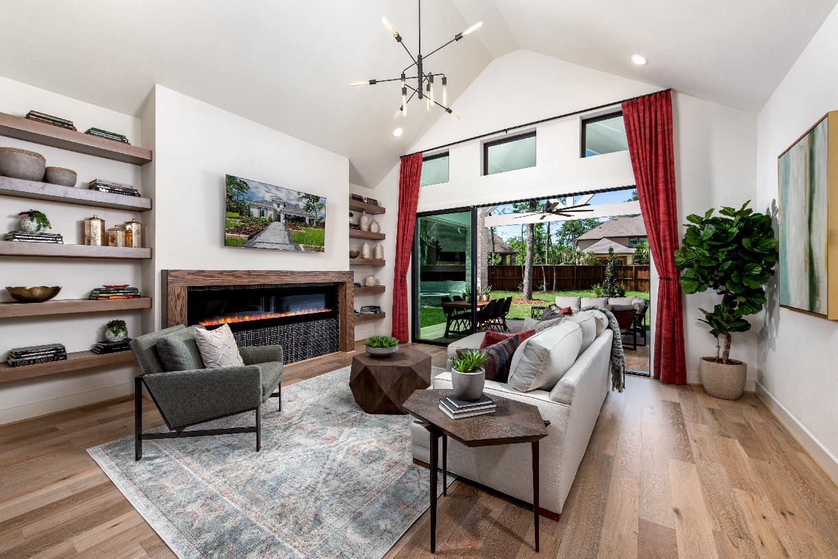 Leighton's spacious great room is perfect for entertaining