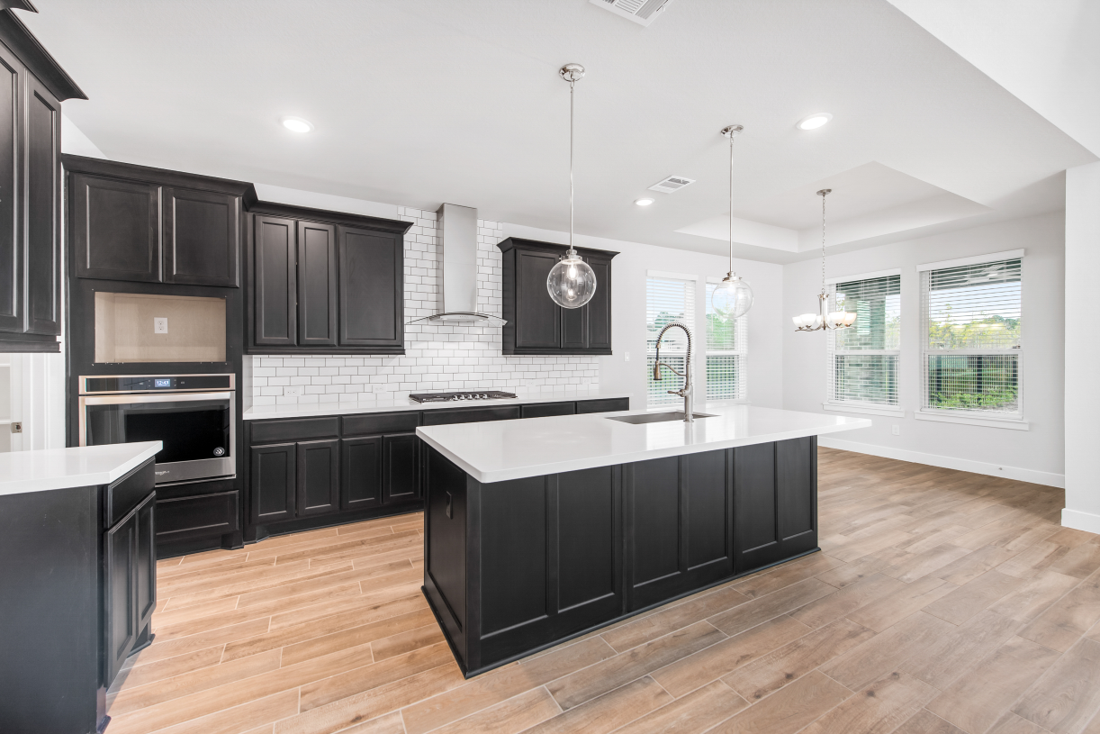Large open kitchen with view to great room