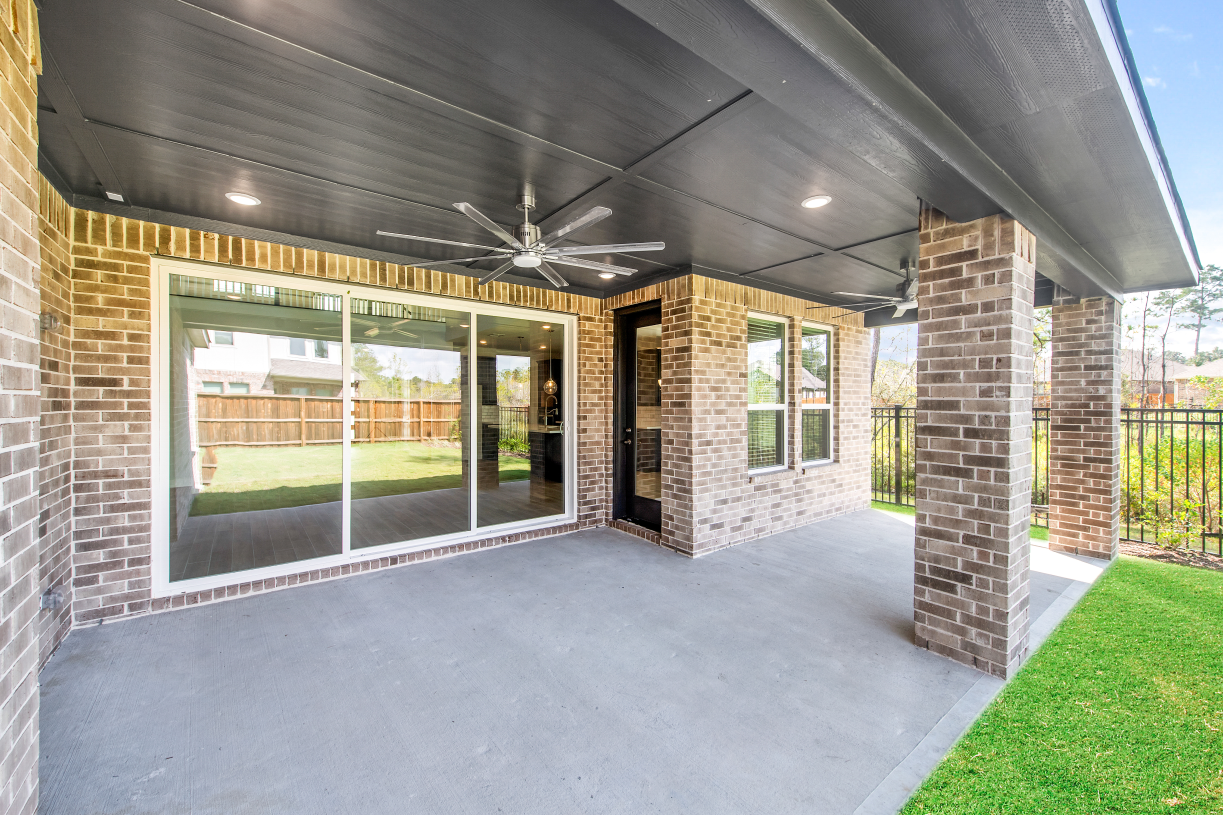 Large covered patio is perfect for gatherings