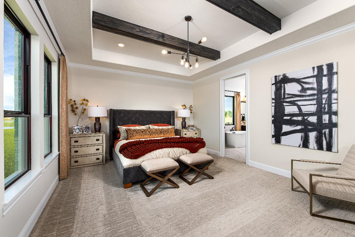 Contemporary Turner primary bedroom