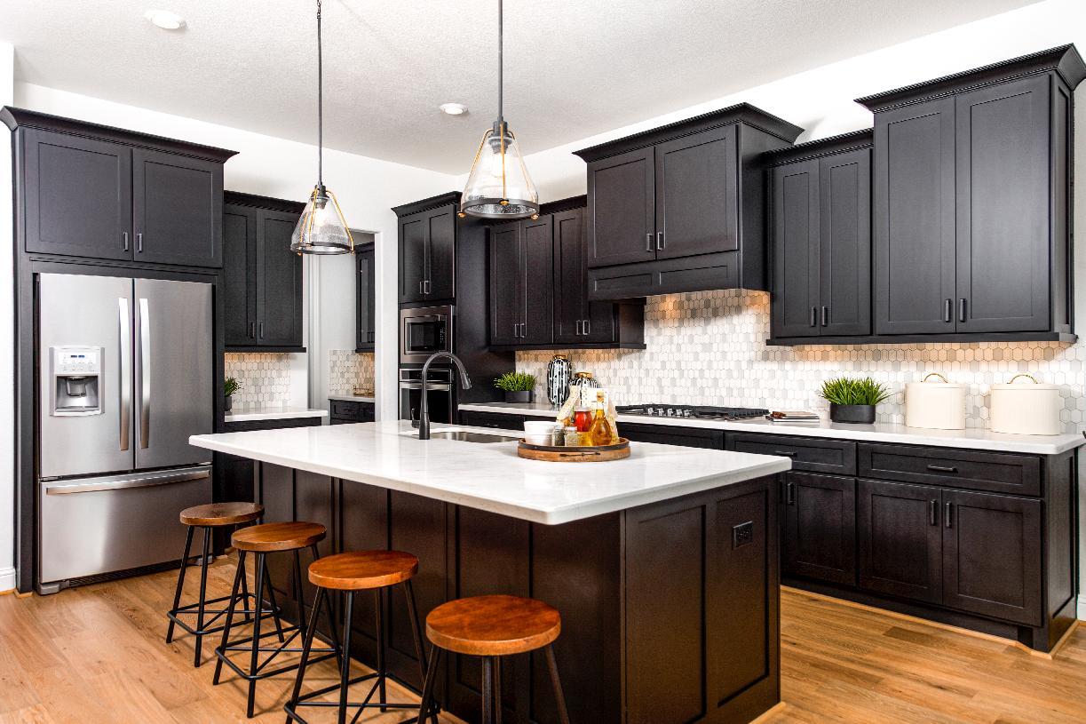 Expansive gourmet kitchen
