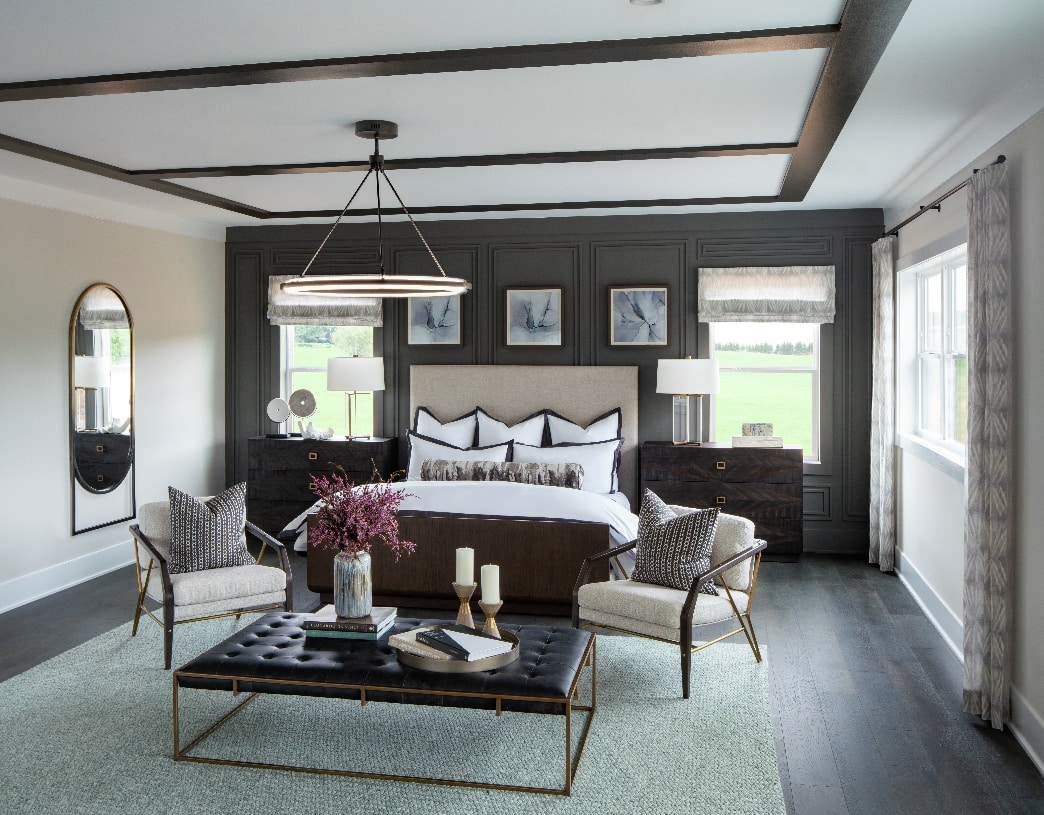 Expansive primary bedroom suite