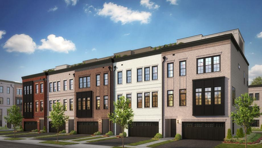 Toll Brothers - Metro Walk at Moorefield Station - Brownstones Photo