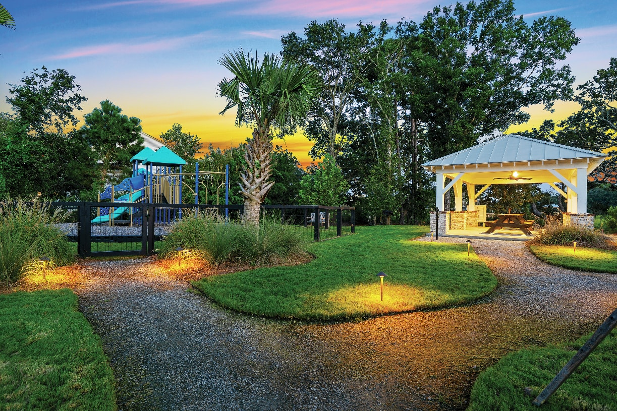 Community ramada and playground