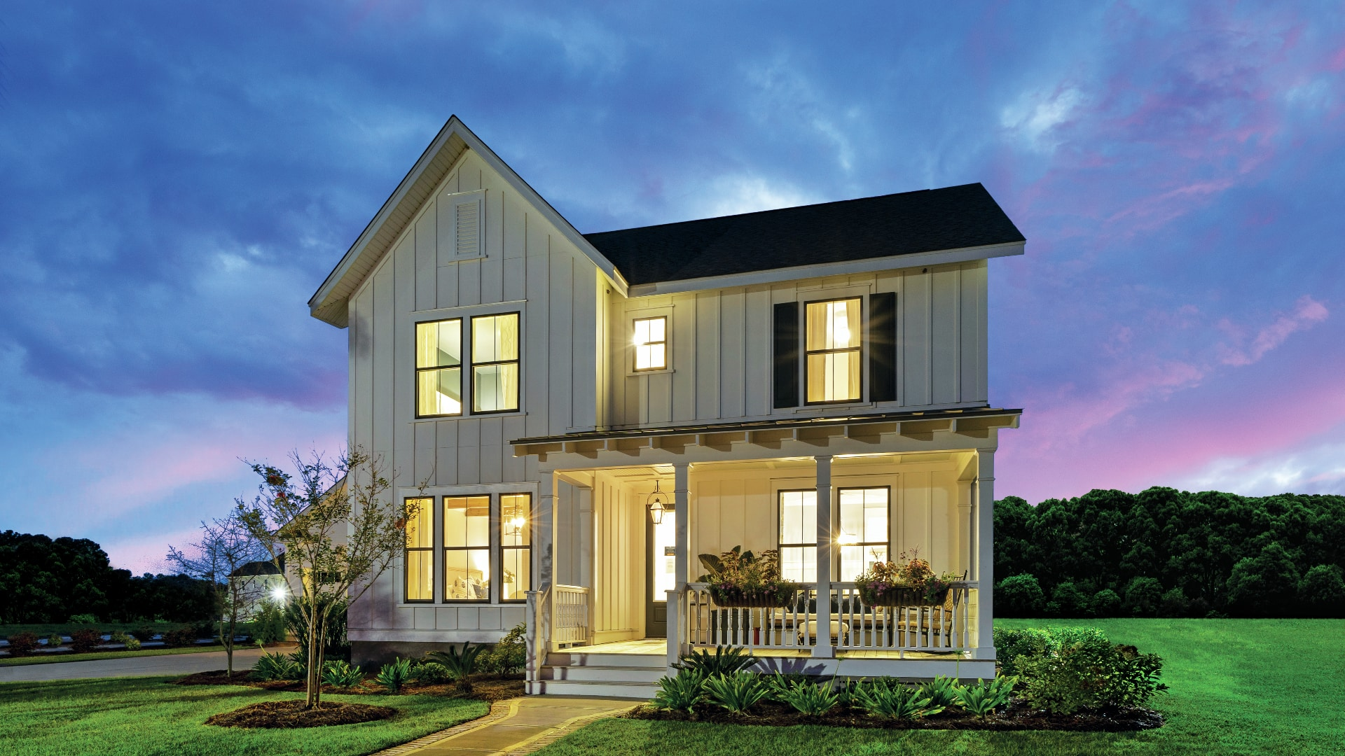 Beautiful exterior home designs with covered front porches for outdoor living