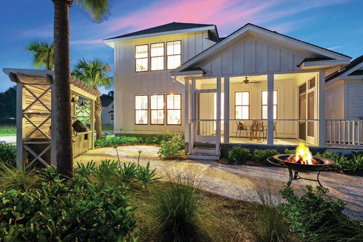 Beautiful rear covered porches with optional screens for outdoor living and entertaining