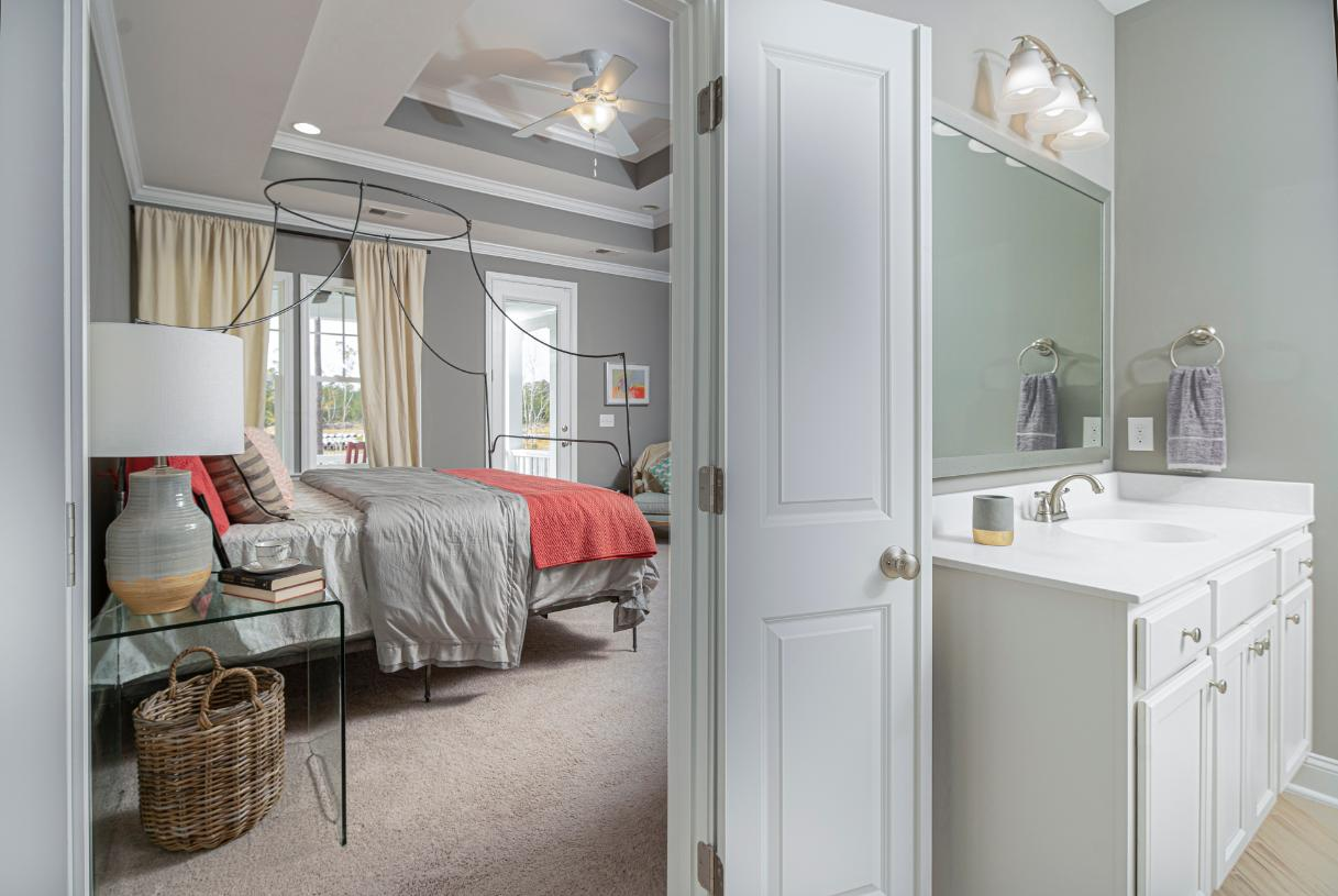 Luxurious primary bath ideally located off the primary bedroom