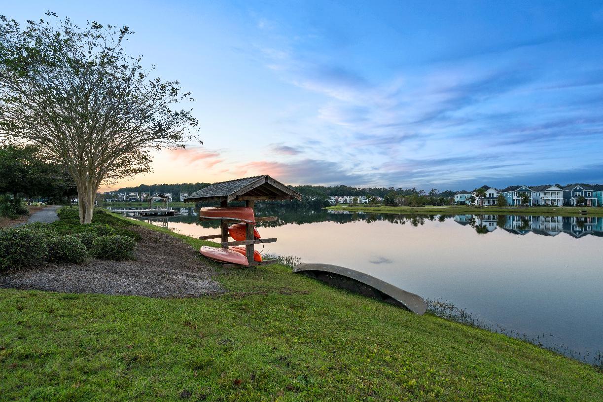 Community kayak launch for outdoor activities