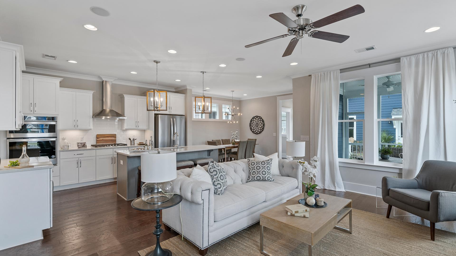 Open concept great room and spacious kitchen ideal for entertaining