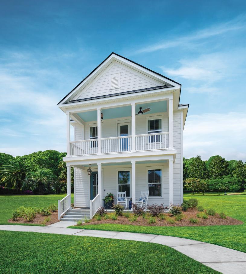 Hayward front exterior with dual front covered porches for outdoor living