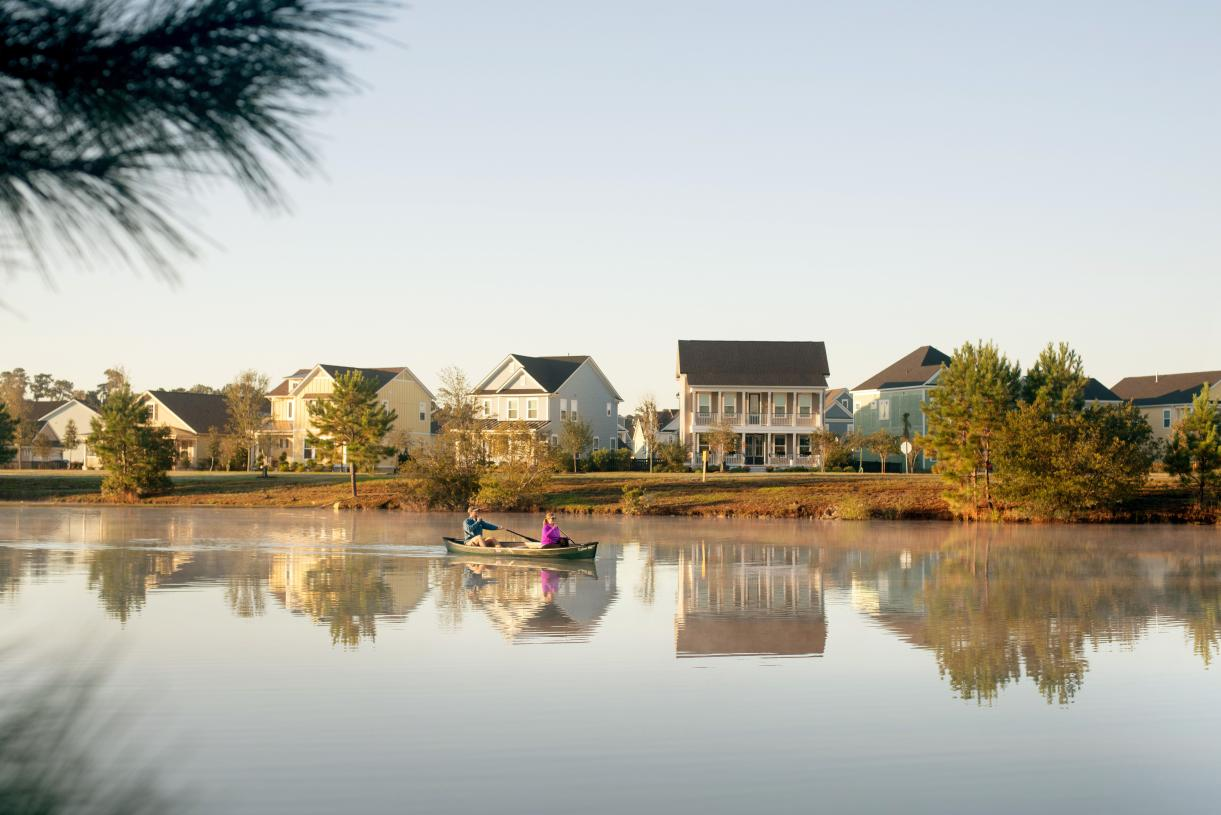 Beautiful community lake for outdoor recreation