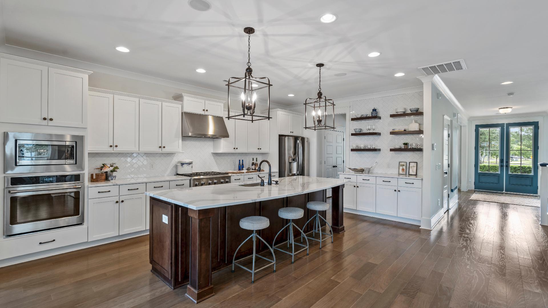 Radcliffe model home kitchen