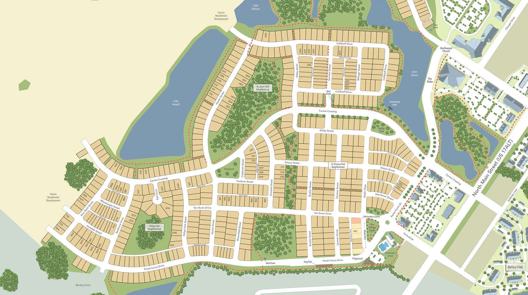Carnes Crossroads Site Plan