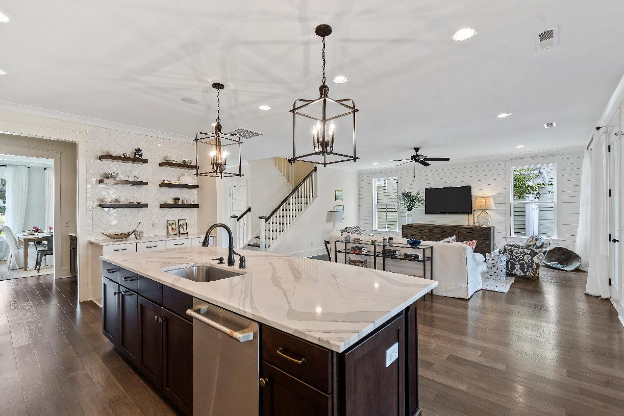 Open concept floor plans with views of the great room beyond