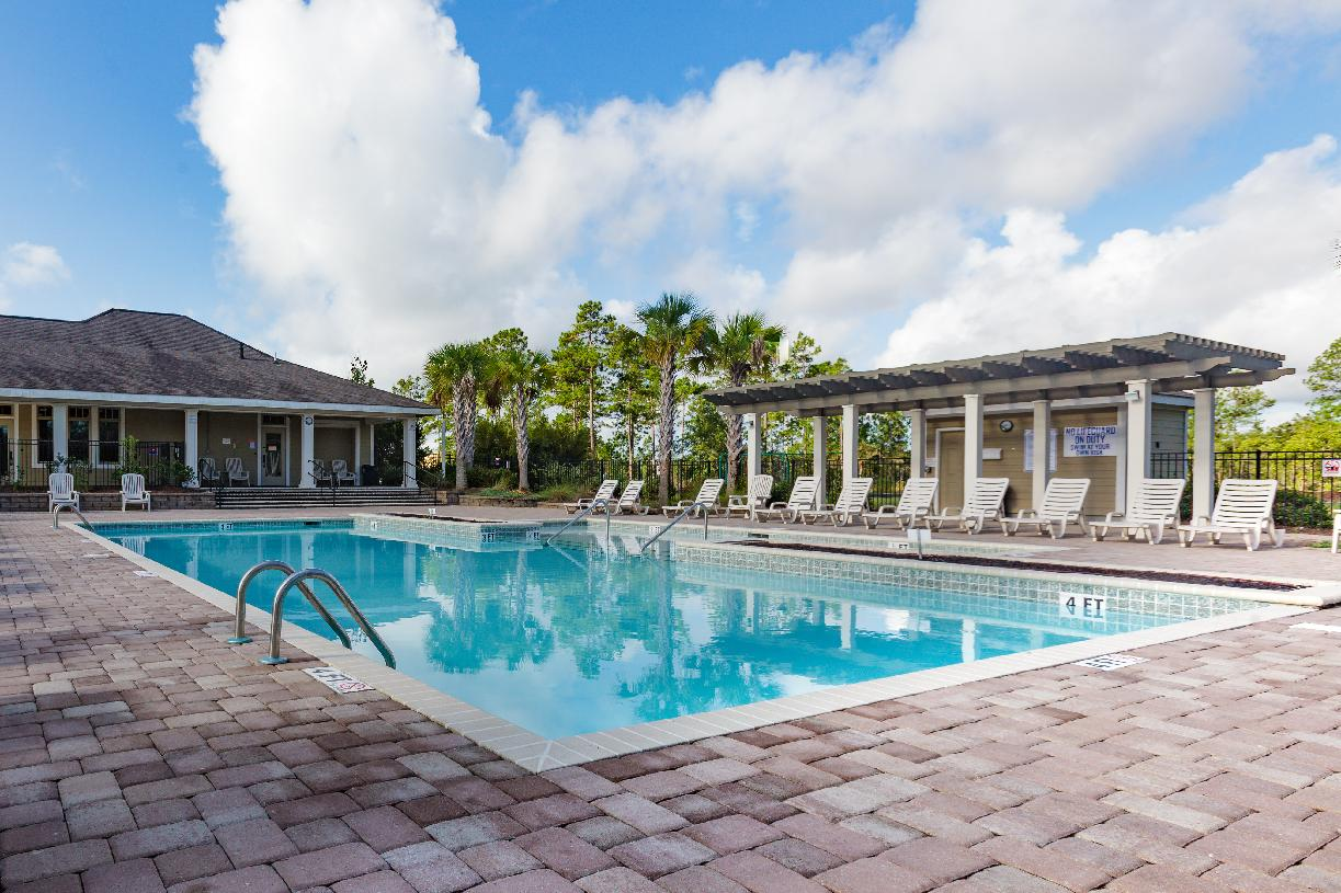 Enjoy a relaxing day in the community pool with family and neighbors